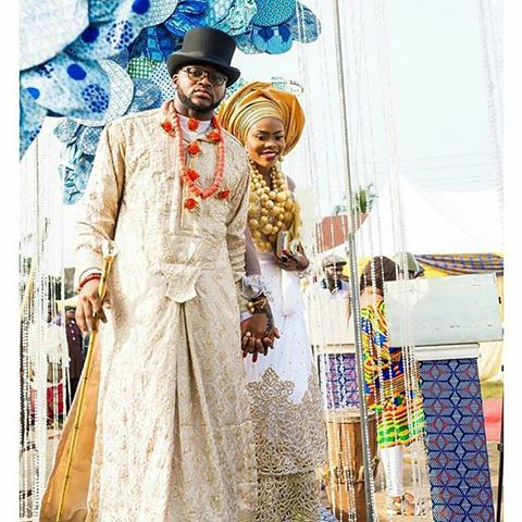 Rich culture,beautiful bride @laurettawogbo and her heartthrob #thechikeres16 Mua @makeupbychinny  Planner @gleamzworldofevents Photog @leonphotographyng  #ikwerreweddings#riversculture#richculture#riversweddings
