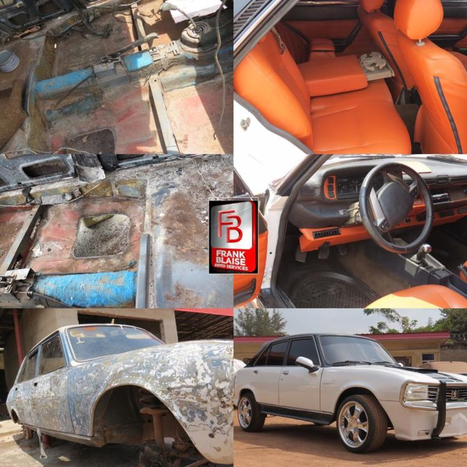 Nigerian Man Transformed Old Abandoned Peugeot 504 Car See Photos