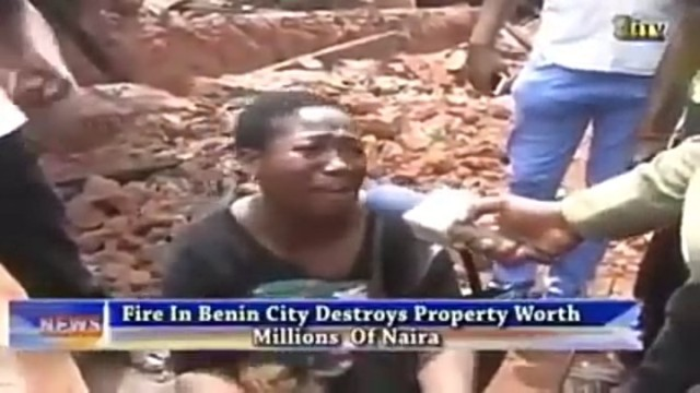 Image result for Savage landlord in ( Edo state ) burns down own house over tenant's' refusal to pay rent for a long time